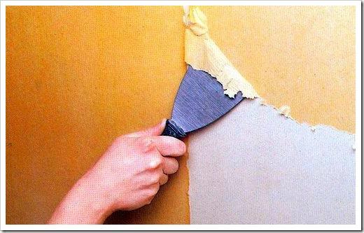Как снять краску со стен?