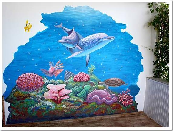 Какими красками рисовать на стенах?
