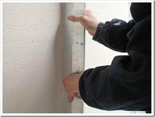 Как выровнять внутренний угол стены?