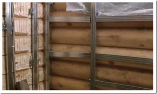 Как выровнять бревенчатые стены?