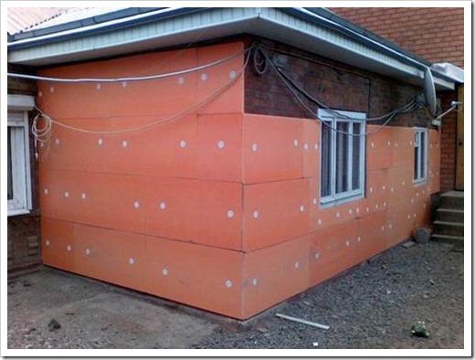 Как утеплить стену пеноплексом снаружи?