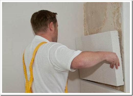 Как утеплить стену внутри пенопластом?