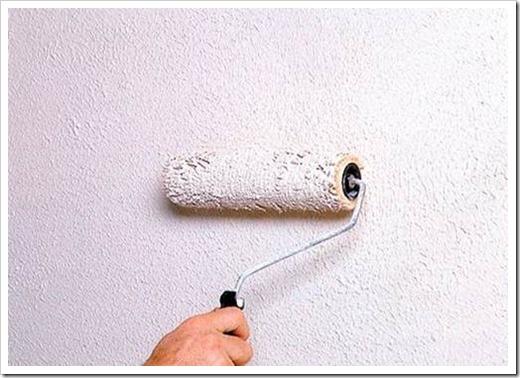 Как красить стены фактурной краской?