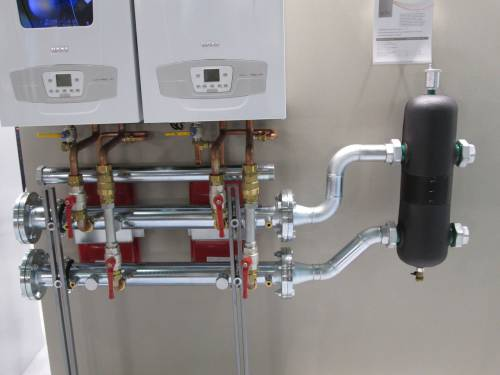 Монтаж двухконтурного газового котла