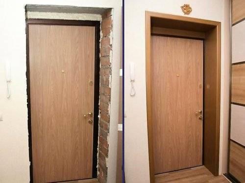Монтируем входные двери