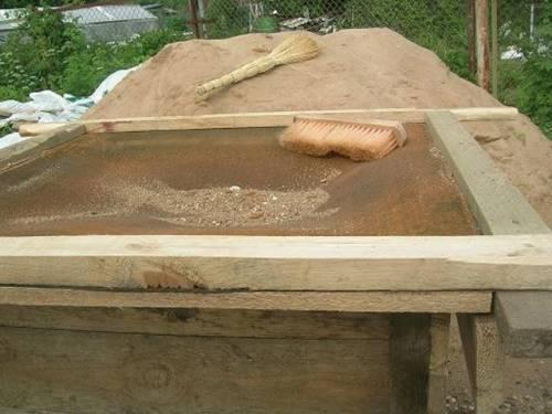 Как просеять песок