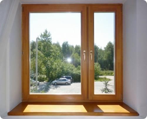 Как установить деревянное евроокно