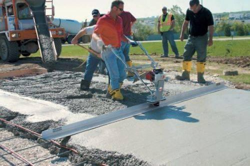 Использование бетоной смеси