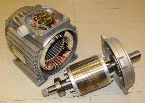 Разобранный электродвигатель