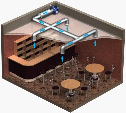 Монтаж вентиляторов на воздухоотводы квадратной формы