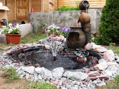 Процедура монтирования фонтана