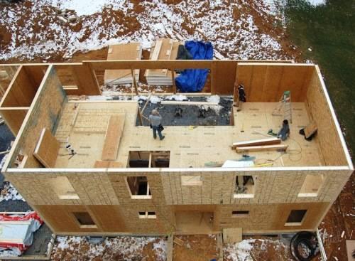 стройка дома из сип-панелей