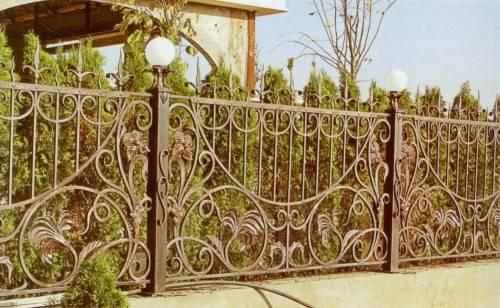Кованый забор для дома