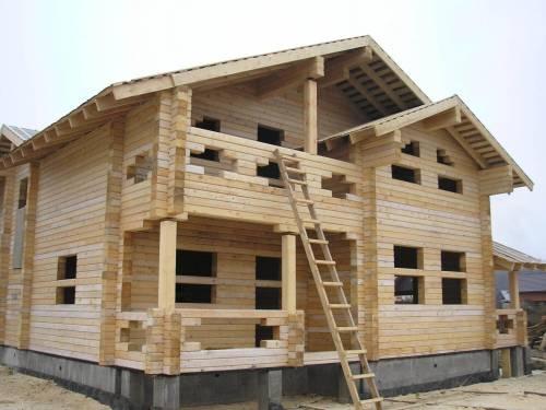 Монтаж дома из профилированного бруса