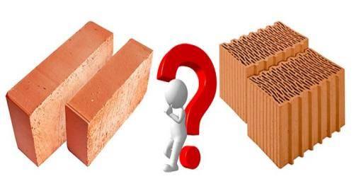 кирпич или керамический блок