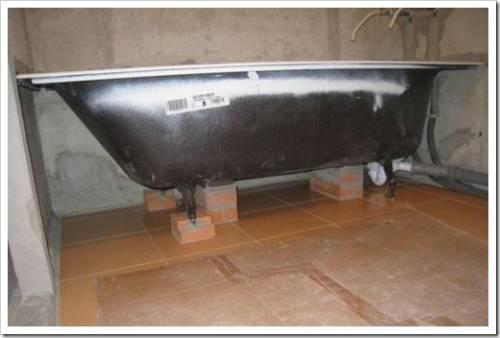 Методика установки чугунной ванны