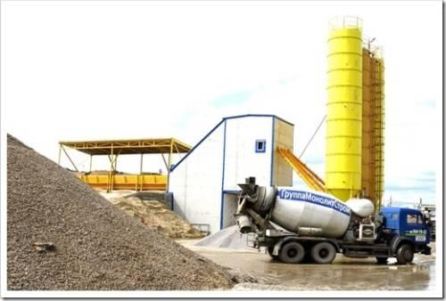 Производственное изготовление бетона