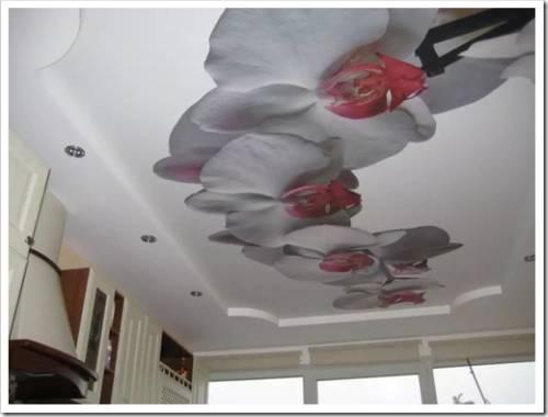 Различные материалы натяжных потолков