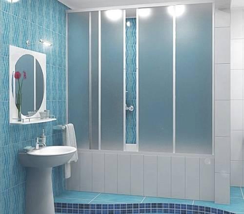 стекляная шторка на ванну