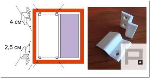 Крепления, используемые для монтажа москитной сетки
