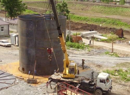 Монтаж резервуаров для нефтепродуктов
