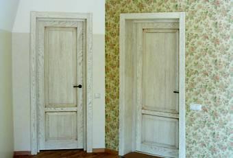 Дверь под беленый дуб