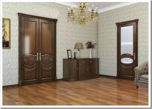 Двери из ценных пород древесины