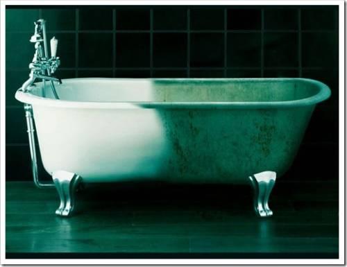 Подготовка поверхности чугунной ванны к акрилированию