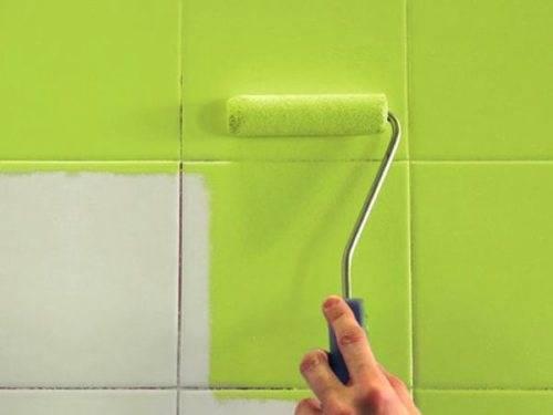 Как покрасить керамическую плитку