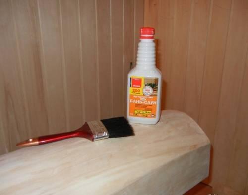 Чем обработать полок в бане