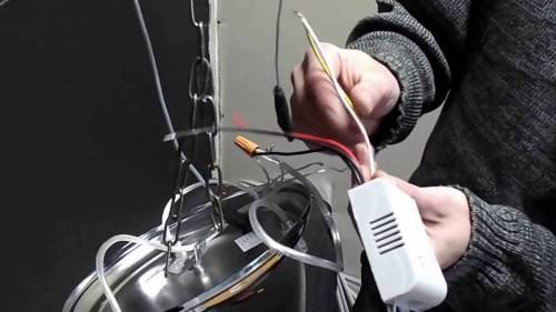 Как подключить люстру с пультом