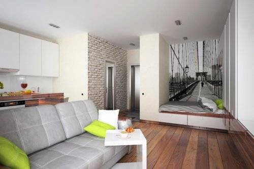 Виды планировок однокомнатных квартир