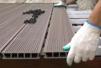 Монтаж террасной доски из ДПК: инструкция