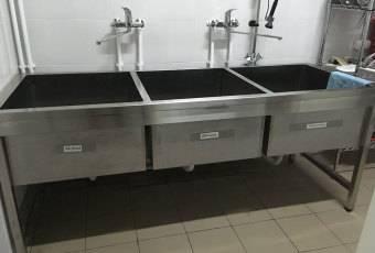 Ванны моечные: характеристики