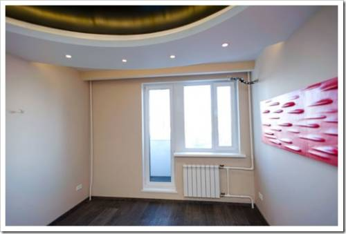Виды отделки: стены, потолок