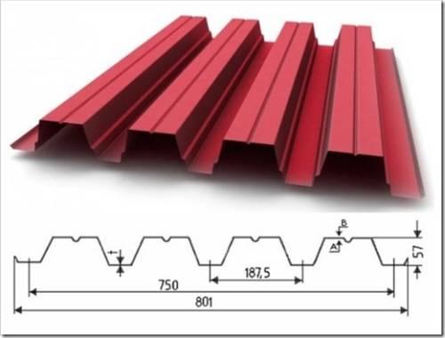 Технические характеристики профлиста н57