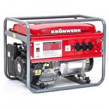 Купить Генератор бензиновый LK 6500,5,5 кВт, 220В, бак 25 л, ручной старт KRONWERK