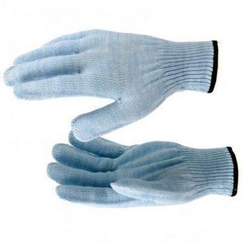 Купить Перчатки Сибртех трикотажные голубые 68656