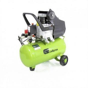 Купить Компрессор воздушный КК-1100/22, 1, 1 кВт, 135 л/мин, 22 л, прямой привод, масляный, СИБРТЕХ, 58036