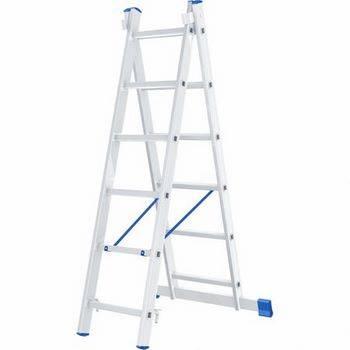 Купить Лестница двухсекционная алюминиевая СИБРТЕХ 2 х 6 ступеней