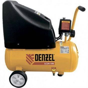 Купить Компрессор воздушный безмасляный LC 24-195, 1.1 кВт, 195 л/мин, 24л, 8 бар DENZEL