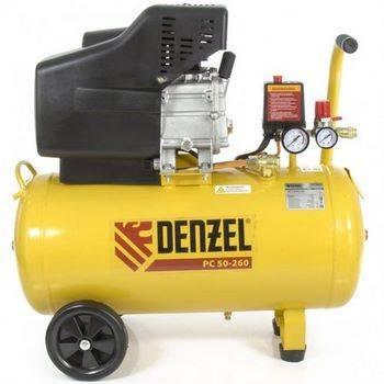 Купить Компрессор воздушный PC 50-260, 1.8 кВт, 260л/мин, 50л, 10 бар DENZEL