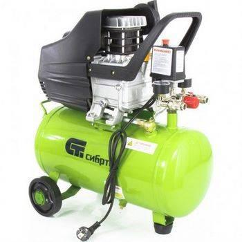 Купить Компрессор воздушный КК-1500/24, 1, 5 кВт, 198 л/мин, 24 л, прямой привод, масляный, СИБРТЕХ, 58037