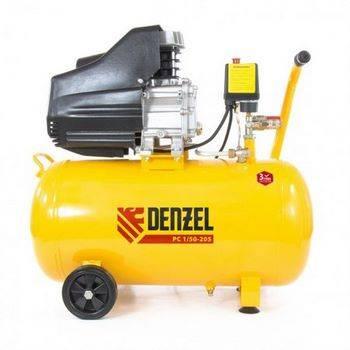Купить Компрессор воздушный PC 1/50-205, 1, 5 кВт, 206 л/мин, 50 л DENZEL 58066