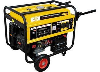 Купить Генератор бензиновый GE 4500Е, 4,5 кВт, 220В/50Гц, 25 л, электростартер Denzel 94683