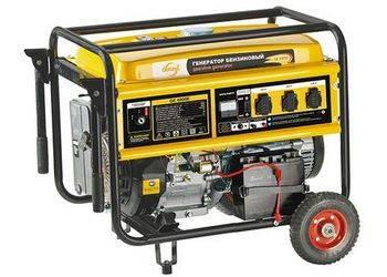 Купить Генератор бензиновый GE 6900E, 5,5 кВт, 220В/380/50Гц, 25 л, электростартер Denzel 94684