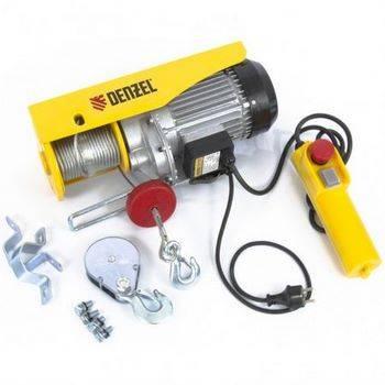 Купить Тельфер электрический TF-800, 0, 8 т, 1300 Вт, высота 12 м, 8 м/мин DENZEL