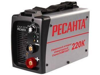 Купить Аппарат сварочный инверторный РЕСАНТА САИ220К 6,6 кВт, компакт