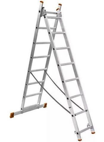 Купить Лестница двухсекционная алюминиевая ВИХРЬ ЛА 73/5/1/27 2х11
