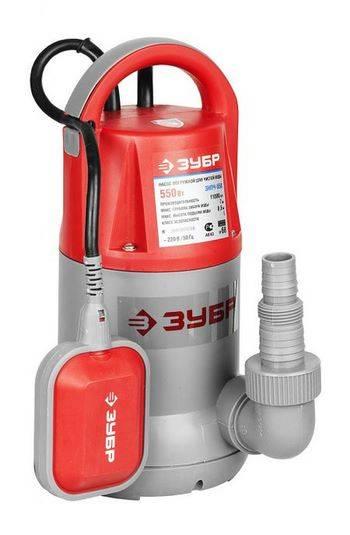 Купить Насос дренажный погружной для чистой воды ЗУБР ЗНПЧ-550 240 л/мин, 550 Вт